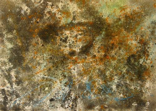 Detlev Eilhardt, Was wo zu Ende ist, Abstraktes, Bewegung, Abstrakter Expressionismus