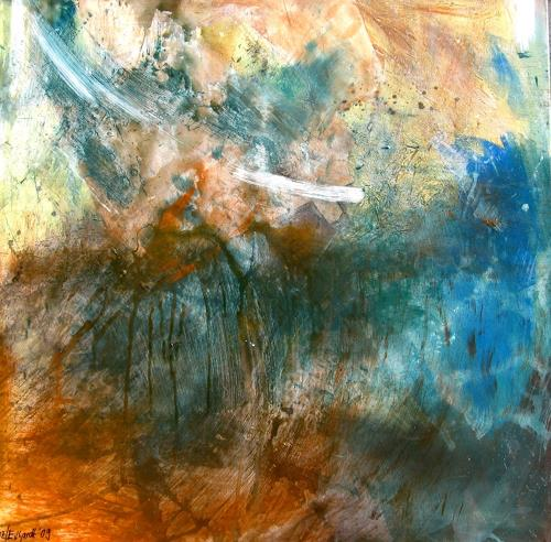 Detlev Eilhardt, Fleischglas, Abstraktes, Symbol, Abstrakter Expressionismus