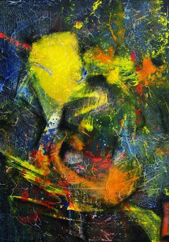 Detlev Eilhardt, Krawatte links vom Saxophon, Abstraktes, Diverses, Abstrakter Expressionismus