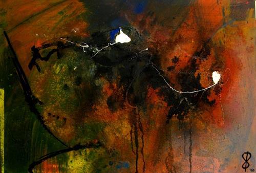 Detlev Eilhardt, MinneTaurus im Verlies, Abstraktes, Fantasie, Abstrakter Expressionismus