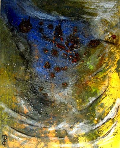 Detlev Eilhardt, MinneTaurus in Freiheit, Abstraktes, Fantasie, Abstrakter Expressionismus