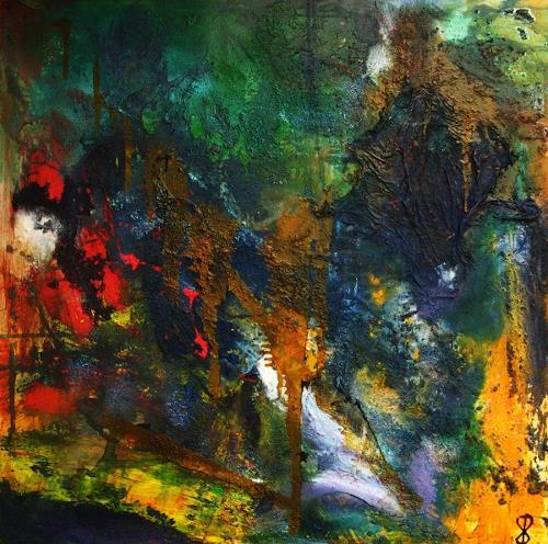Detlev Eilhardt, Hidden, Abstraktes, Symbol, Abstrakter Expressionismus
