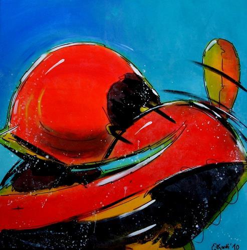 Detlev Eilhardt, spaceball, Abstraktes, Bewegung, Art Déco, Abstrakter Expressionismus
