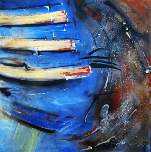 Detlev Eilhardt, Heimkehr, Abstraktes, Symbol, Informel, Abstrakter Expressionismus