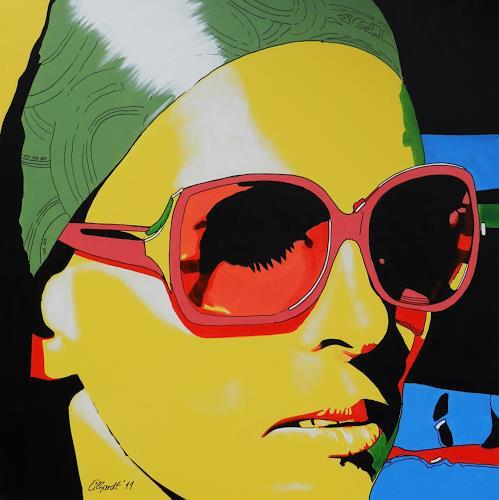 Detlev Eilhardt, Sunglasses IV, Menschen: Frau, Menschen: Porträt, Pop-Art, Abstrakter Expressionismus