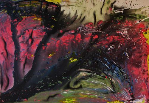 Detlev Eilhardt, Das Ende des Fleisches, Abstraktes, Fantasie, Abstrakter Expressionismus