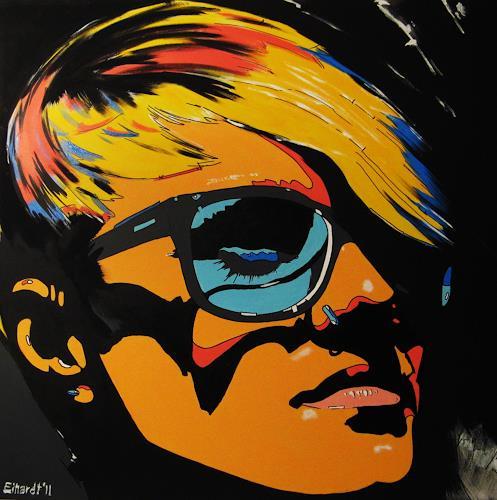 Detlev Eilhardt, strong, Dekoratives, Menschen: Gesichter, Pop-Art, Abstrakter Expressionismus