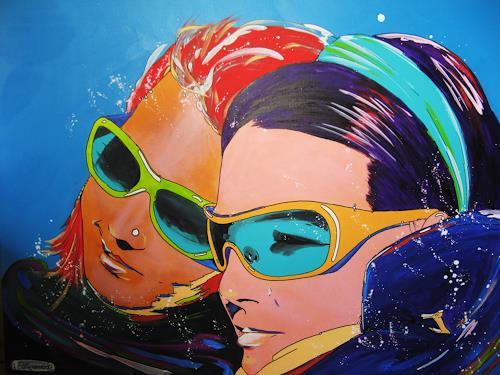 Detlev Eilhardt, Ausklang, Menschen: Gesichter, Dekoratives, Pop-Art, Expressionismus