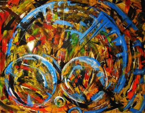 Detlev Eilhardt, Raum, Abstraktes, Fantasie, Abstrakter Expressionismus, Expressionismus