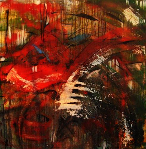 Detlev Eilhardt, Die Korpuskel, Abstraktes, Fantasie, Abstrakter Expressionismus