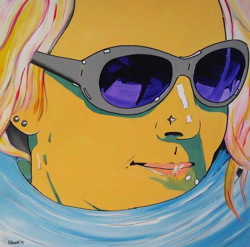 Detlev Eilhardt, sunglasses I, Dekoratives, Menschen: Frau, Pop-Art, Abstrakter Expressionismus