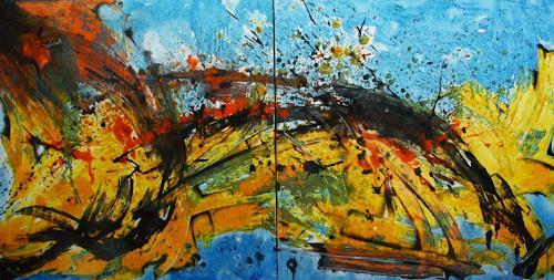 Detlev Eilhardt, Unterwegs, Abstraktes, Bewegung, Abstrakter Expressionismus
