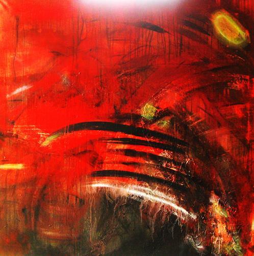Detlev Eilhardt, Werner hustet, Abstraktes, Humor, Informel, Expressionismus