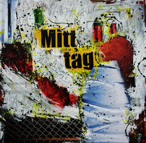 Detlev Eilhardt, Mitttag, Abstraktes, Menschen: Mann, Pop-Art, Expressionismus
