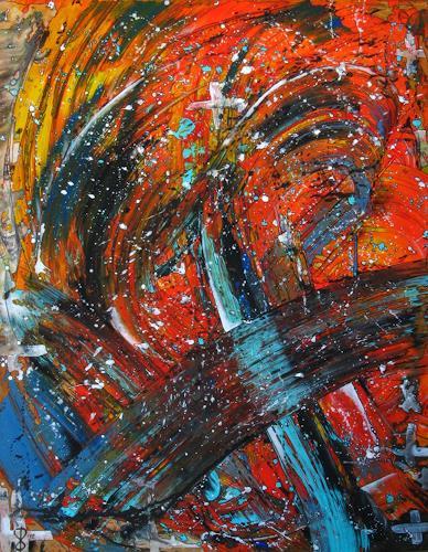 Detlev Eilhardt, Hegaukreuz, Abstraktes, Bewegung, Abstrakter Expressionismus