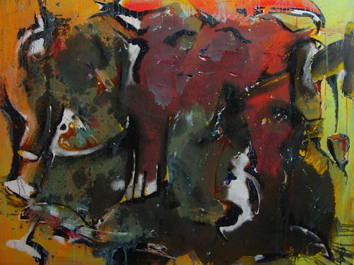 Detlev Eilhardt, Das goldene Kalb, Glauben, Abstraktes, Abstrakter Expressionismus