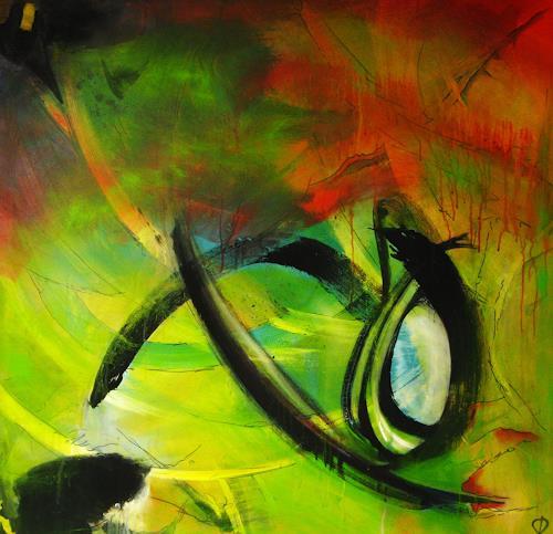 Detlev Eilhardt, Himmel, was hab ich mich nach Dir gesehnt!, Abstraktes, Poesie, Abstrakter Expressionismus