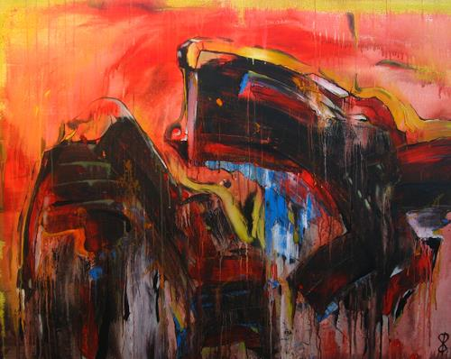 Detlev Eilhardt, Aufstand der Elemente, Abstraktes, Symbol, Action Painting, Abstrakter Expressionismus