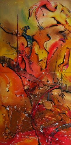 Detlev Eilhardt, The Bridge, Abstraktes, Symbol, Abstrakter Expressionismus