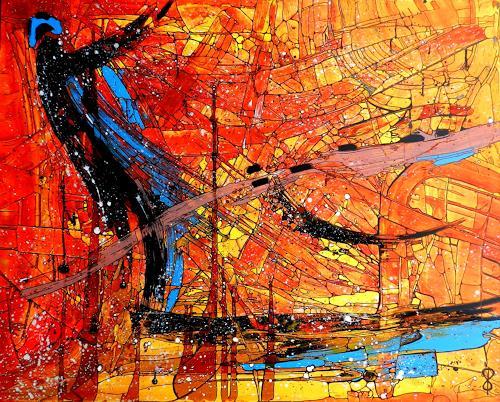 Detlev Eilhardt, Der Seelenfischer, Abstraktes, Glauben, Abstrakter Expressionismus, Expressionismus
