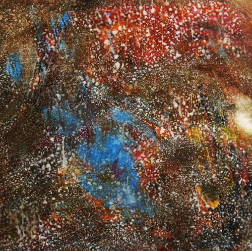 Detlev Eilhardt, Das Lachen in den Regentropfen, Abstraktes, Natur: Wasser, Abstrakter Expressionismus