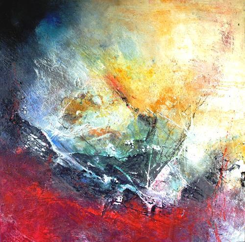 Detlev Eilhardt, Der Anfang einer Reise, Abstraktes, Symbol, Abstrakter Expressionismus, Expressionismus