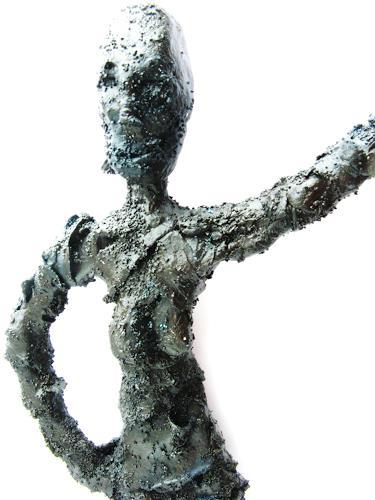Detlev Eilhardt, She, Menschen: Frau, Abstraktes, Naive Kunst, Abstrakter Expressionismus