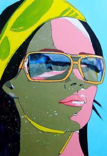 Detlev Eilhardt, Am Strand, Menschen: Gesichter, Fashion, Pop-Art, Abstrakter Expressionismus
