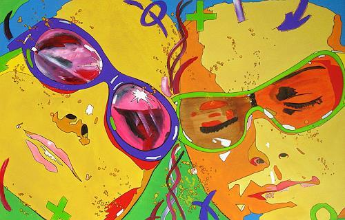 Detlev Eilhardt, Harmony, Gefühle: Geborgenheit, Menschen: Gesichter, Pop-Art, Expressionismus