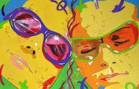 Detlev-Eilhardt-1-Gefuehle-Geborgenheit-Menschen-Gesichter-Moderne-Pop-Art