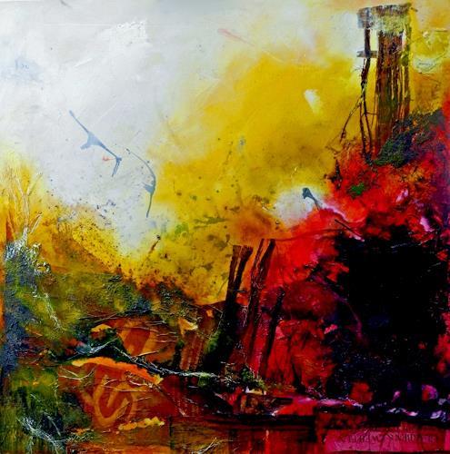 Detlev Eilhardt, Glaube und Zweifel, Abstraktes, Glauben, Abstrakter Expressionismus