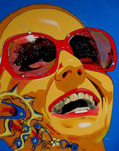 Detlev Eilhardt, Das Sommerlachen, Gefühle: Freude, Menschen: Frau, Pop-Art, Abstrakter Expressionismus