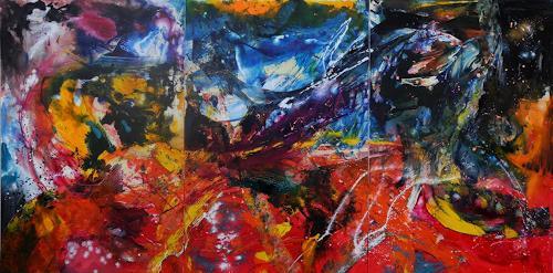 Detlev Eilhardt, Friends meet Friends, Abstraktes, Gefühle: Freude, Abstrakter Expressionismus