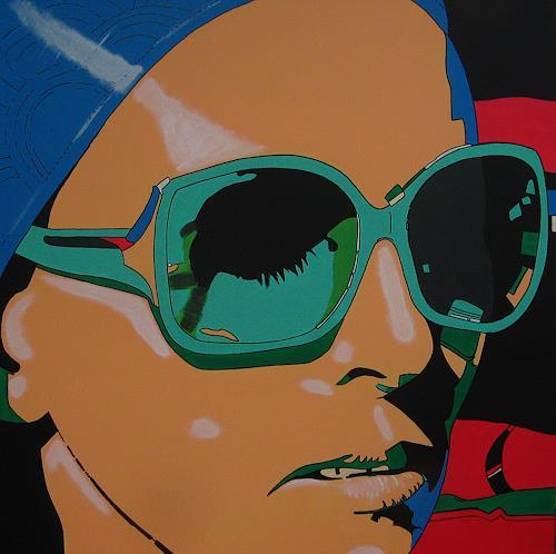 Detlev Eilhardt, sunglasses IV stretched, Menschen: Frau, Menschen: Gesichter, Pop-Art, Expressionismus