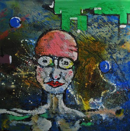 Detlev Eilhardt, Aufgetaucht, Situationen, Menschen: Gesichter, Abstrakter Expressionismus