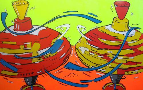 Detlev Eilhardt, HUMMING TOP, Spiel, Symbol, Pop-Art