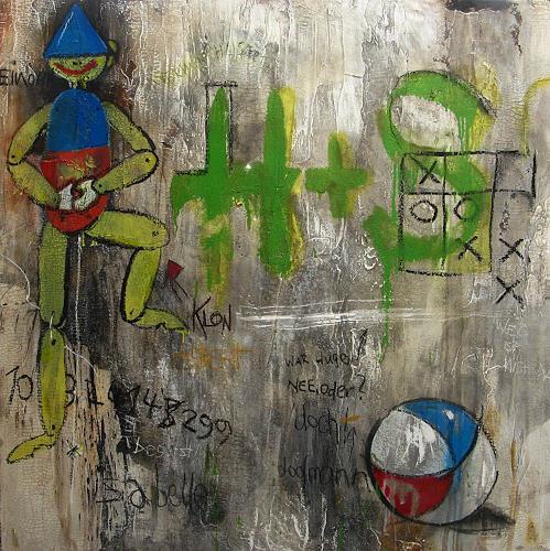 Detlev Eilhardt, Werner hustet II, Symbol, Gesellschaft, Pop-Art, Abstrakter Expressionismus
