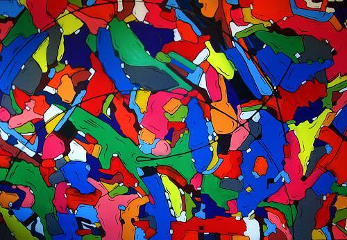 Detlev Eilhardt, plastic carnival, Karneval, Bewegung, Pop-Art, Abstrakter Expressionismus