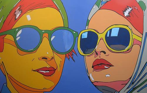 Detlev Eilhardt, HEADSQUARE, Menschen: Frau, Menschen: Gesichter, Pop-Art, Expressionismus