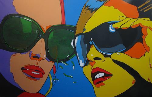 Detlev Eilhardt, SHATTERPROOF, Menschen: Gesichter, Menschen: Porträt, Pop-Art, Abstrakter Expressionismus