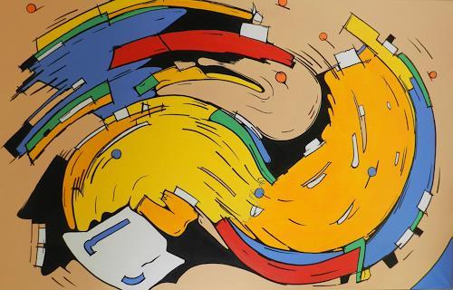 Detlev Eilhardt, OPEN WHIRLIGIG, Poesie, Bewegung, Pop-Art, Abstrakter Expressionismus