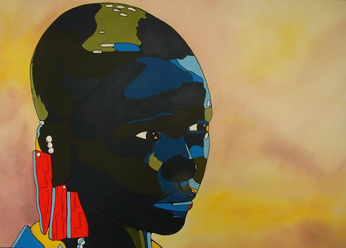 Detlev Eilhardt, It´s me, Menschen: Porträt, Menschen: Gesichter, Pop-Art, Abstrakter Expressionismus
