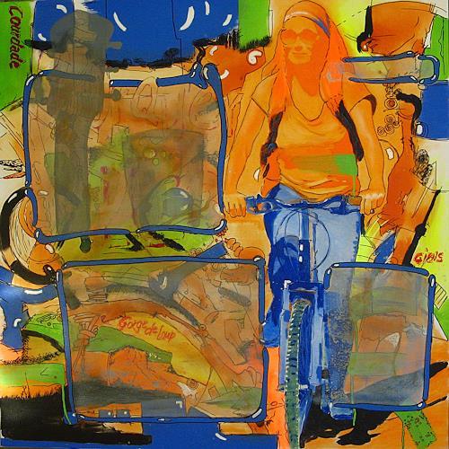 Detlev Eilhardt, Porquerolles II, Diverse Landschaften, Menschen: Frau, Pop-Art, Moderne