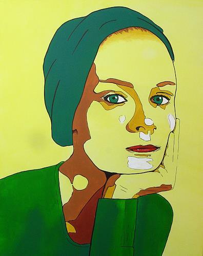 Detlev Eilhardt, tardif, Menschen: Frau, Menschen: Porträt, Neue Figurative Malerei, Expressionismus
