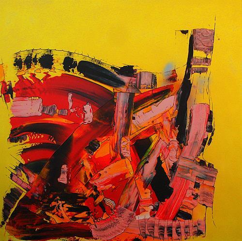 Detlev Eilhardt, JUMBLE, Abstraktes, Bewegung, Abstrakter Expressionismus