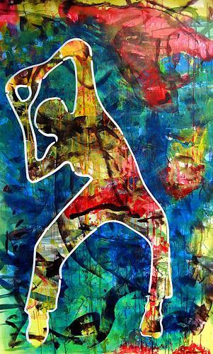 Detlev Eilhardt, Summerdanz, Menschen: Frau, Bewegung, Pop-Art, Expressionismus