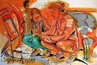 Detlev-Eilhardt-1-Diverse-Menschen-Gefuehle-Geborgenheit-Moderne-Pop-Art