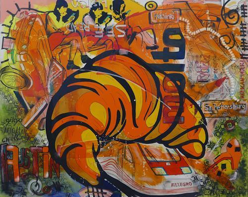 Detlev Eilhardt, St. Petsinki, Gesellschaft, Symbol, expressiver Realismus, Abstrakter Expressionismus