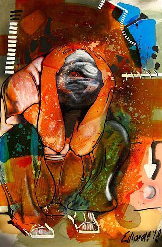 Detlev Eilhardt, mirror, Zeiten: Zukunft, Diverse Menschen, Neo-Expressionismus, Abstrakter Expressionismus