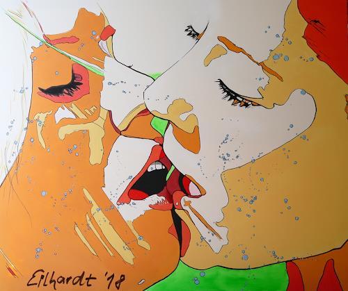 Detlev Eilhardt, KISS II, Menschen: Frau, Menschen: Gesichter, Pop-Art, Expressionismus